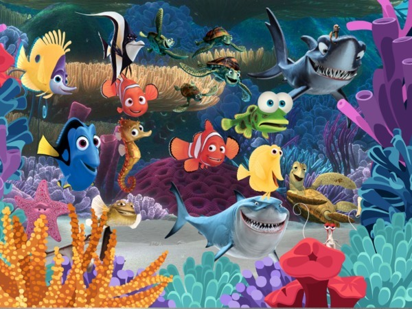 Kids party under the sea