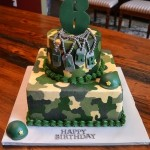 Army theme kids cake