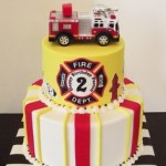 Fireman birthday party cake
