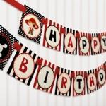 Kids pirate party birthday banner