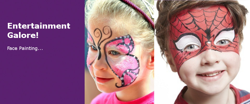 face painting, magic shows for kids parties