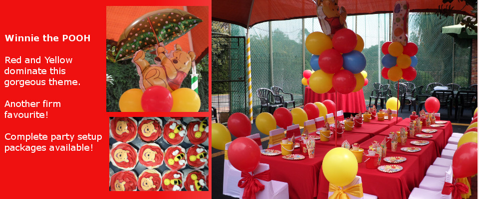 Kids party planning, decor and setup Winnie the Pooh 1st birthday