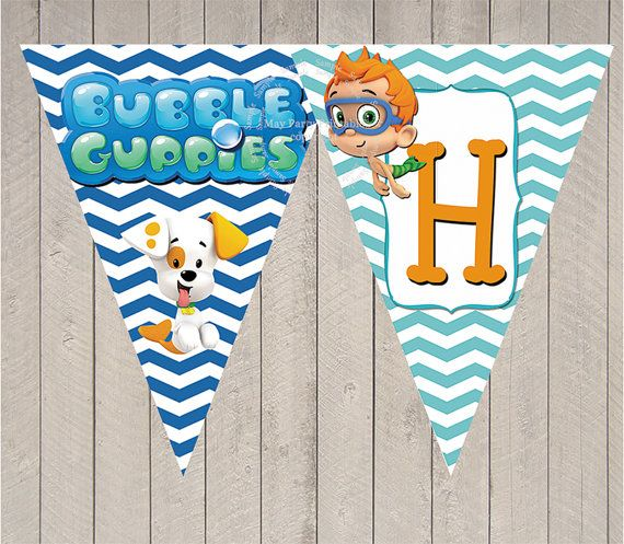Happy Birthday Banner Bubble Guppies theme