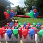 Avengers Birthday Party Setup